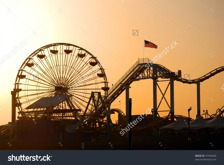Santa Monica Pier Los Angeles California Stock Photo 47940286.