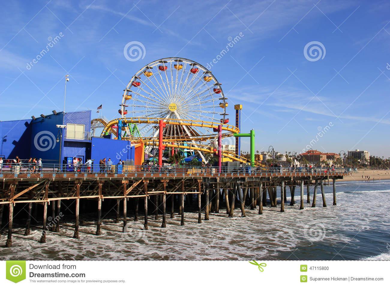 Santa Monica Pier Editorial Photography.