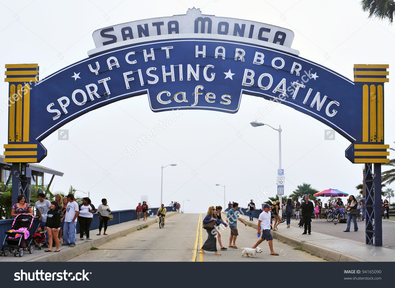 Santa Monica Usa October 15 Famous Stock Photo 94165090.