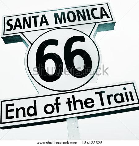 Santa Monica Pier Sign Stock Images, Royalty.