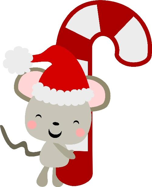 Santa Mouse Candy Cane.