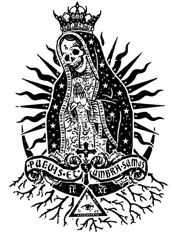 Santa Muerte Clipart.