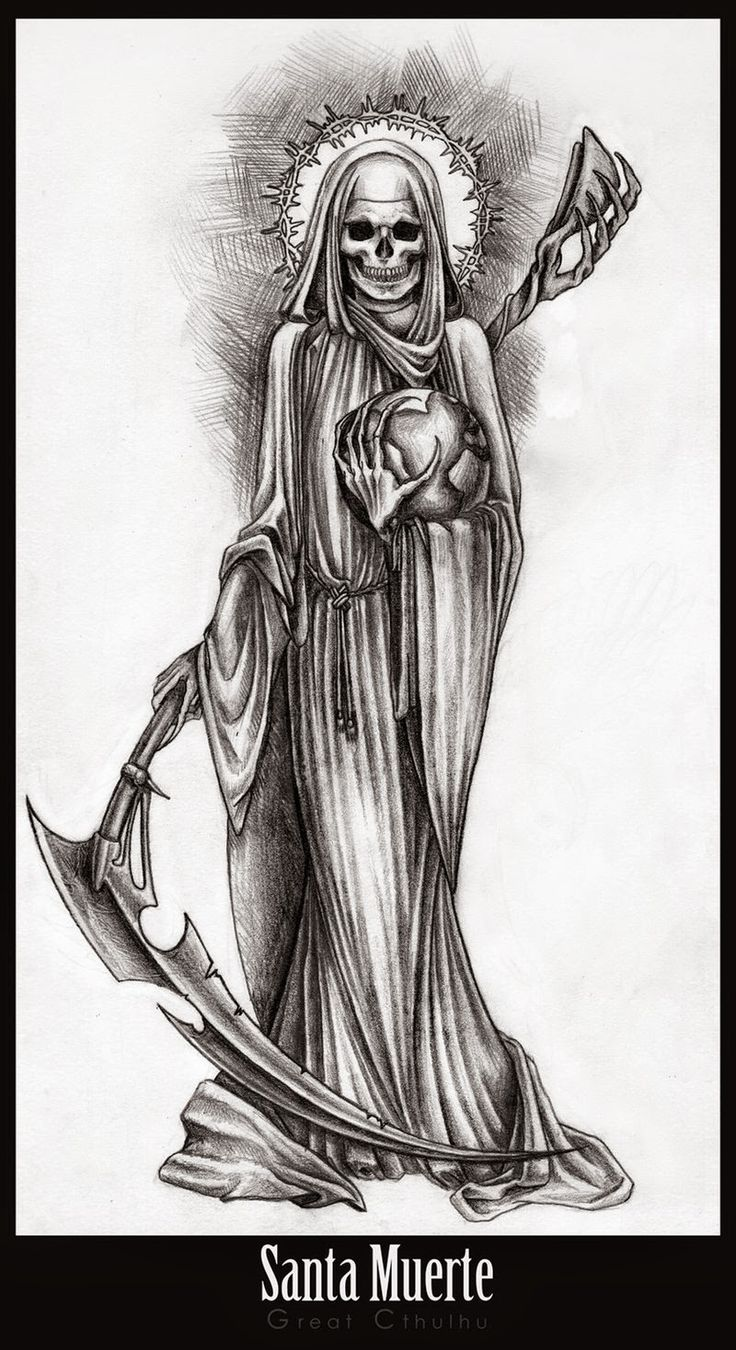 17 Best ideas about La Santa Muerte Tattoo on Pinterest.