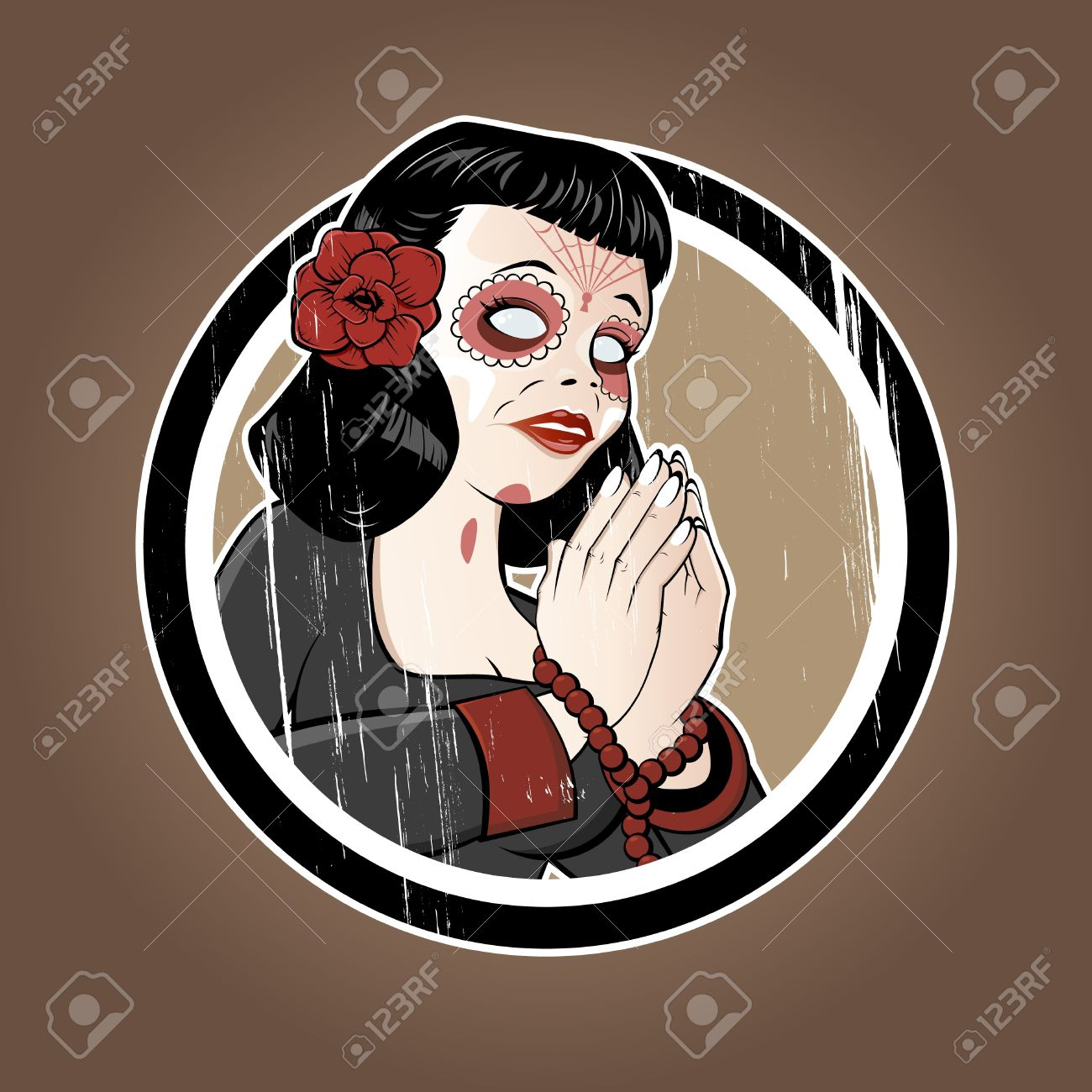 Illustration Of Santa Muerte Royalty Free Cliparts, Vectors, And.