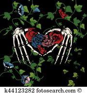 Santa muerte Clipart EPS Images. 25 santa muerte clip art vector.