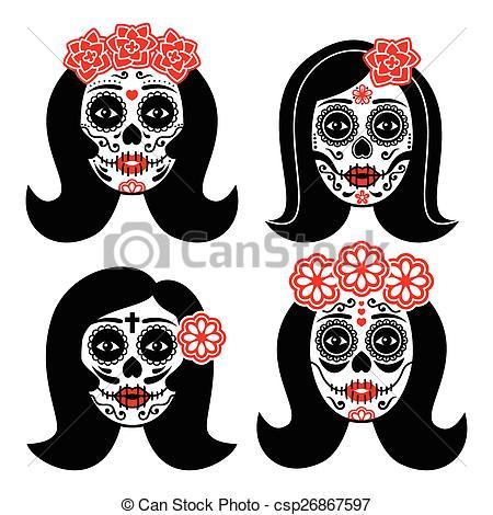 Santa muerte Clipart Vector Graphics. 27 Santa muerte EPS clip art.