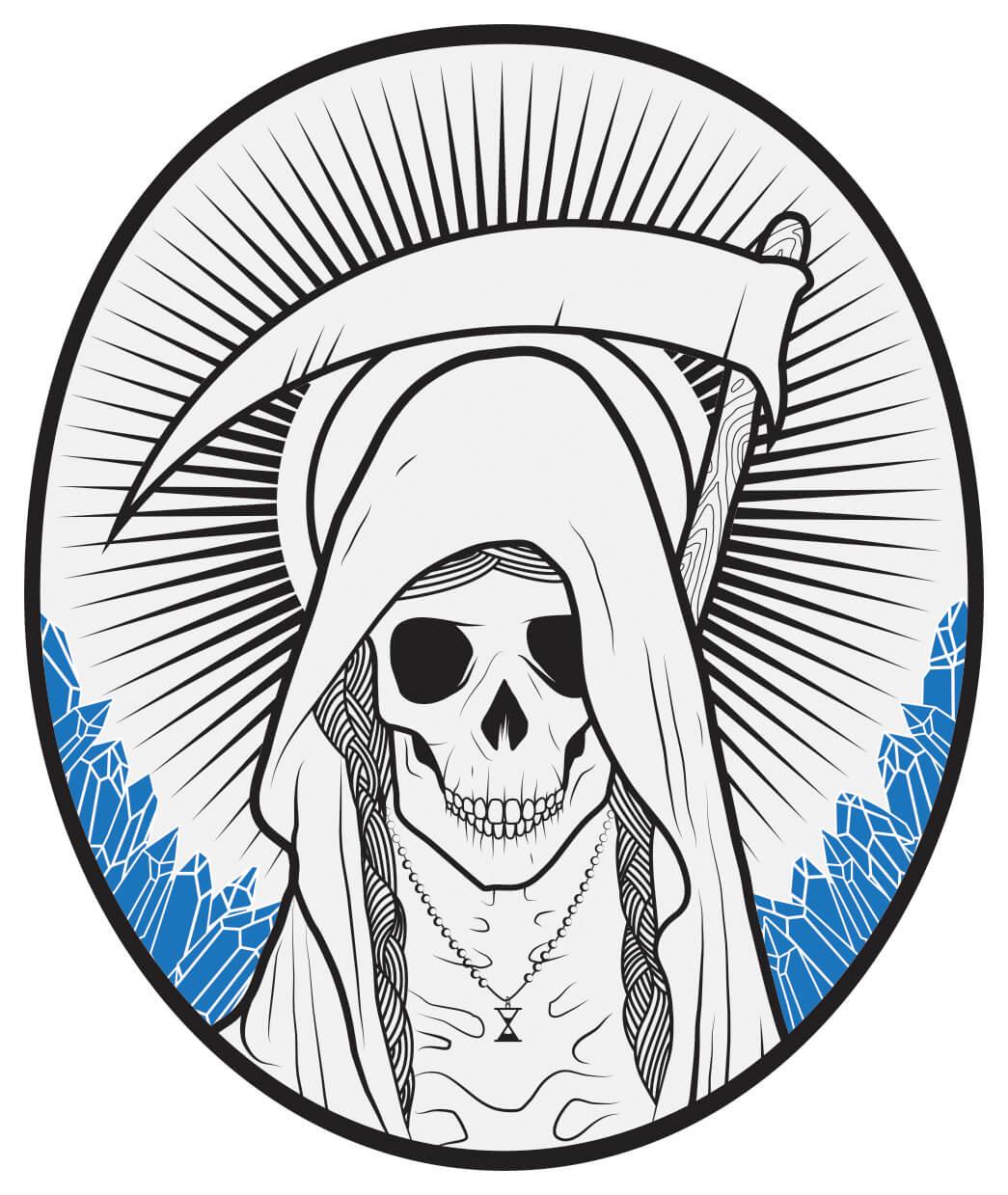 Santa Muerte Tequila.