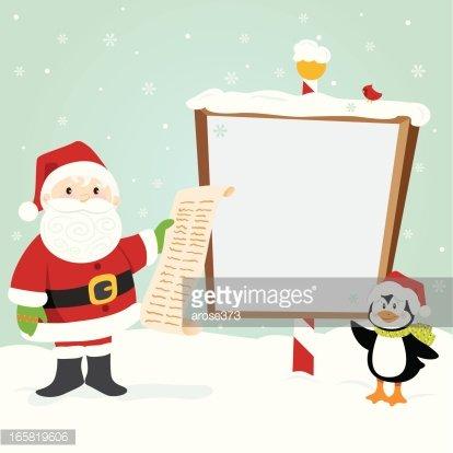 Santa North Pole Clipart Image.