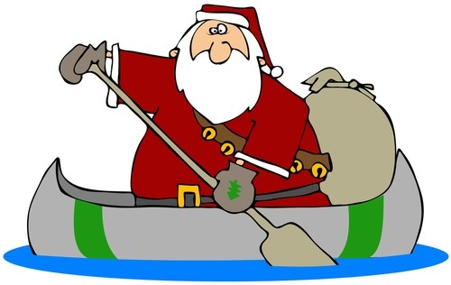 Santa in a boat clipart 3 » Clipart Portal.
