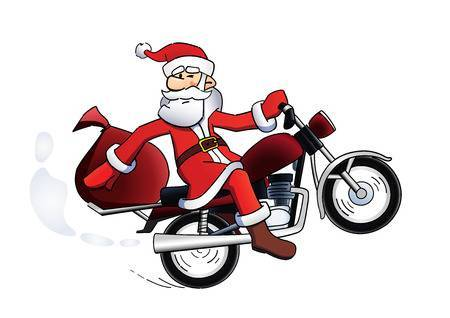 Santa on motorcycle clipart 5 » Clipart Portal.