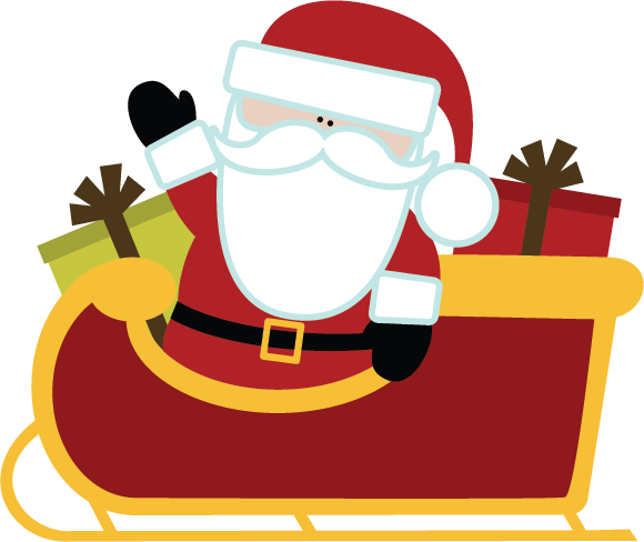 Santa Sleigh PNG Images Transparent Free Download.