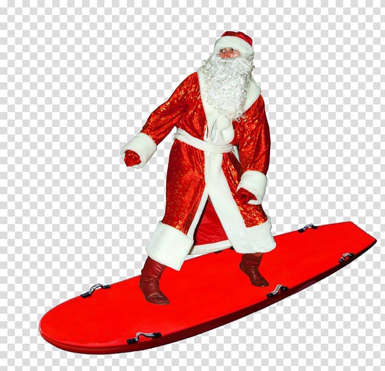 Santa Claus Desktop , surfing transparent background PNG.