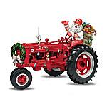 Santa Tractor Cliparts.