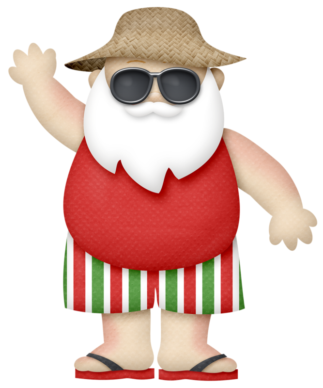 Clipart santa vacation, Clipart santa vacation Transparent.