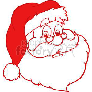 red Santa Claus outline clipart. Royalty.