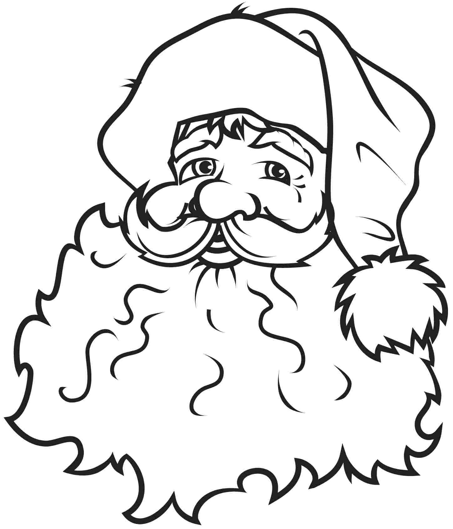 Free Santa Claus Outline, Download Free Clip Art, Free Clip.