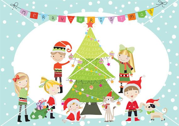 Christmas party Christmas children christmas Clipart by.