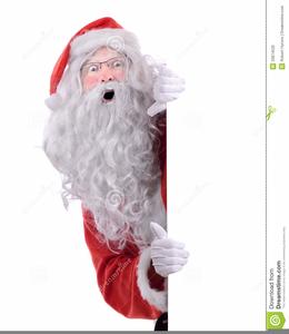 Santa Peeking Clipart.