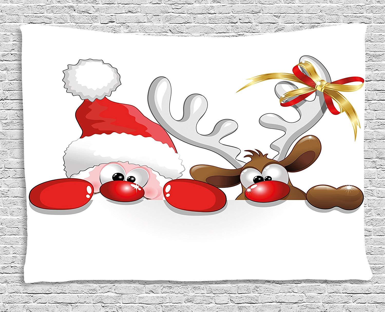 Amazon.com: Ambesonne Christmas Tapestry, Funny Christmas.