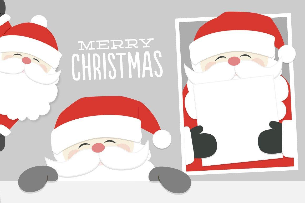 Santa Peeking ~ Illustrations ~ Creative Market.