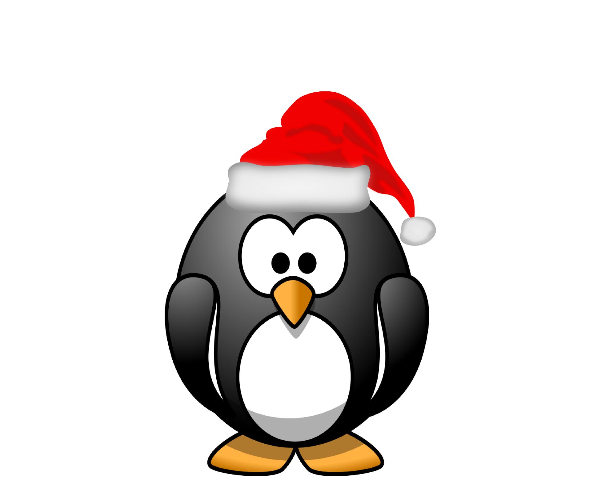 Penguin Santa Claus Christmas Clip art.