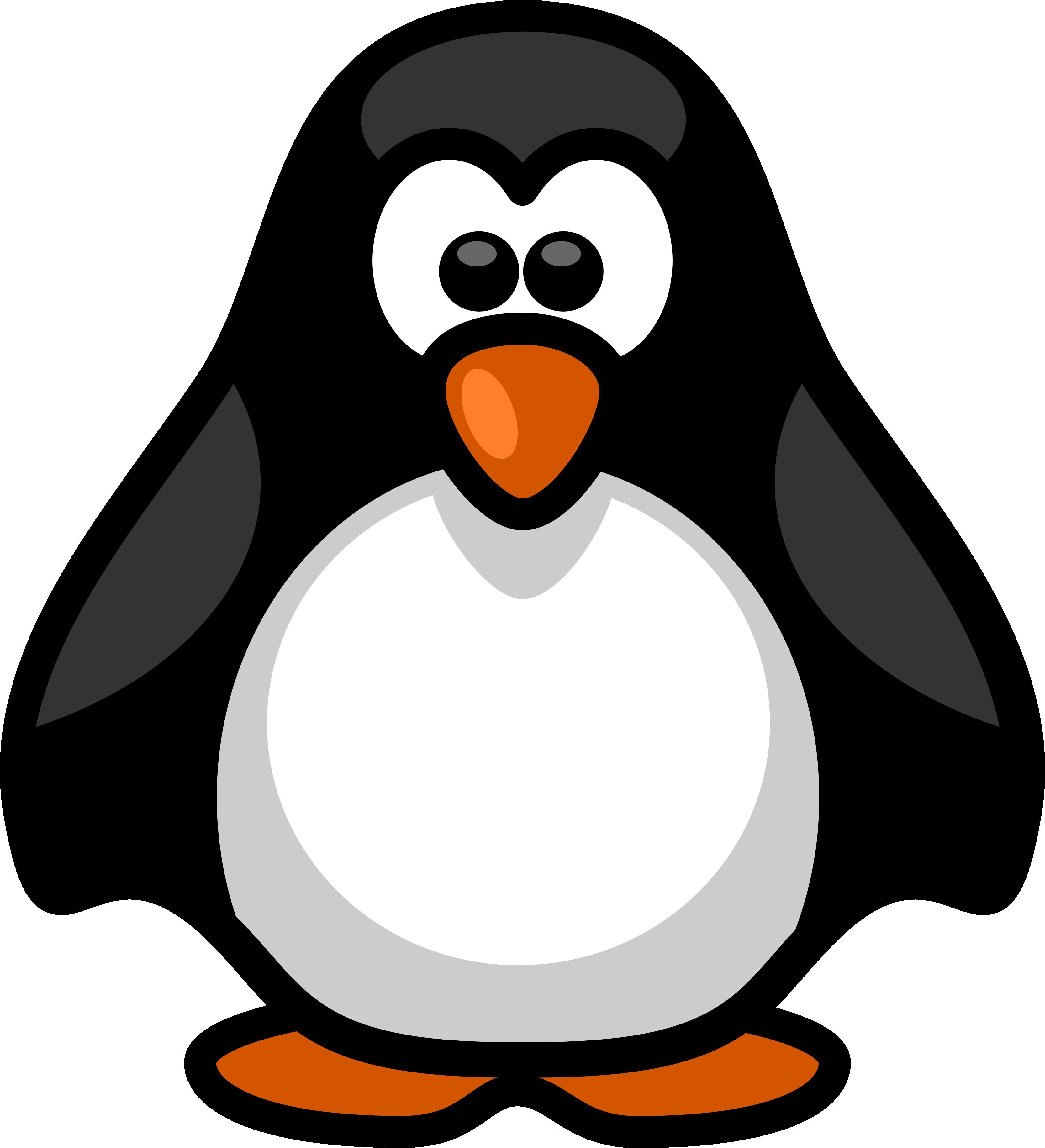 Santa Penguin Clipart.