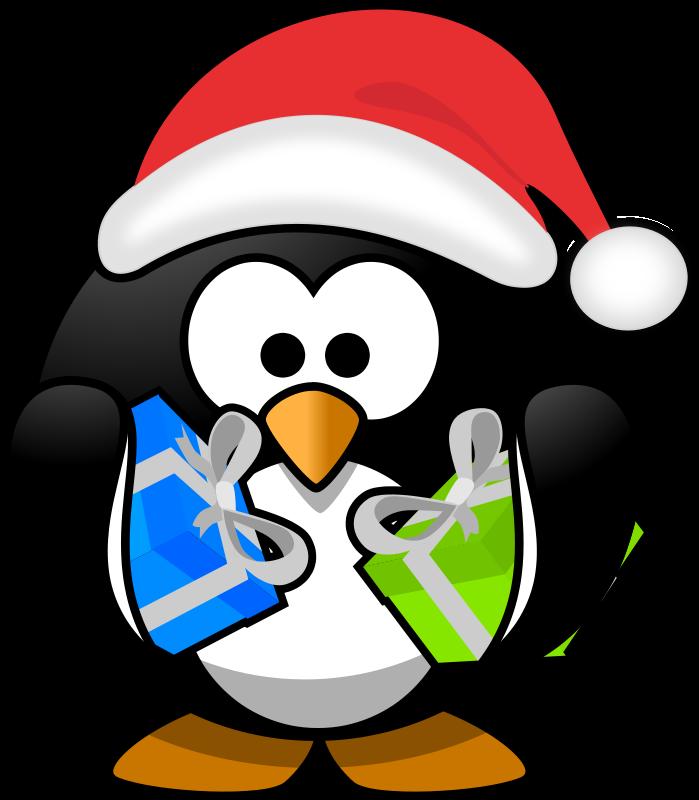 Free Clipart: Santa penguin.