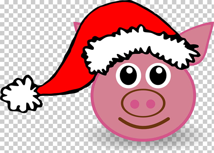 Domestic pig Santa Claus Peppa Pig Christmas , Graphics s.
