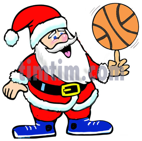 Free drawing of A Basketball Santa from the category.