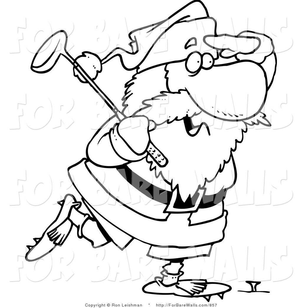 Royalty Free Stock Printable Designs of Golfers.