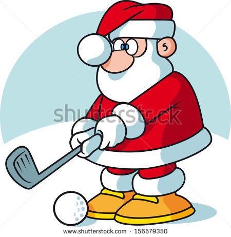 Santa Claus Golf Stock Photos, Royalty.