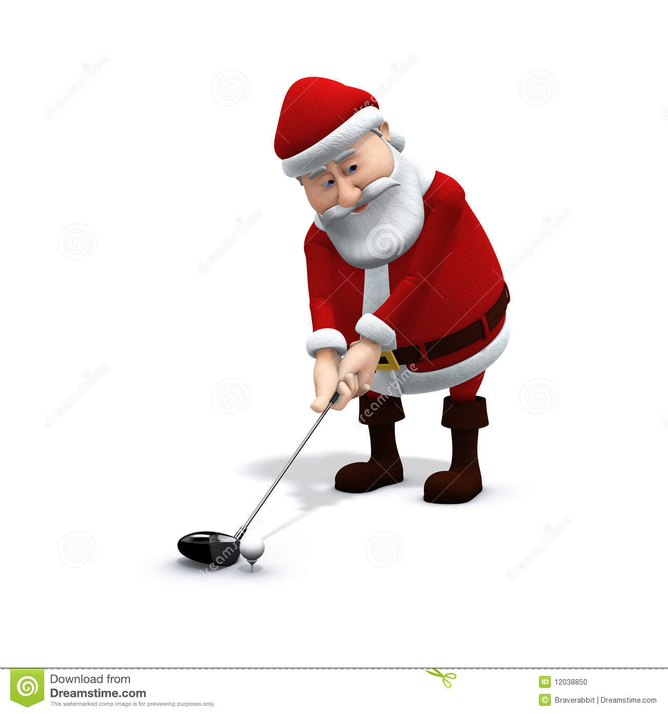 Santa Golf 2 Stock Photos, Images, & Pictures.