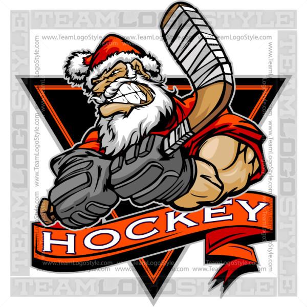 Santa Hockey Logo.
