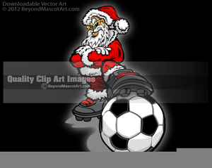Wolf Playing Soccer Clipart.