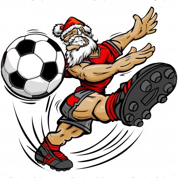 Christmas Soccer Clip Art.