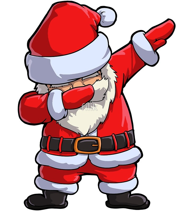 Santa Claus Dancing Clipart.