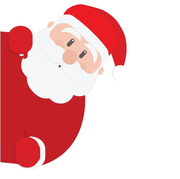 Santa PNG Transparent Image.