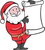 Free clipart santa reading kindle.