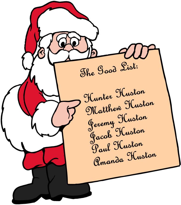 Santa List Clip Art.
