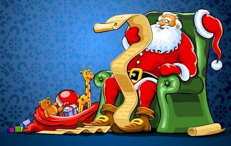 Santas christmas list clipart.
