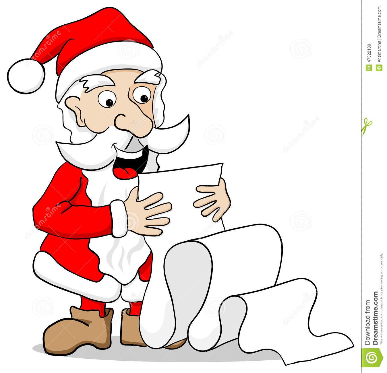 Showing post & media for Cartoon santa reading wish list.