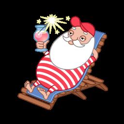 Santa Relaxing Png Png & Free Santa Relaxing.png Transparent.
