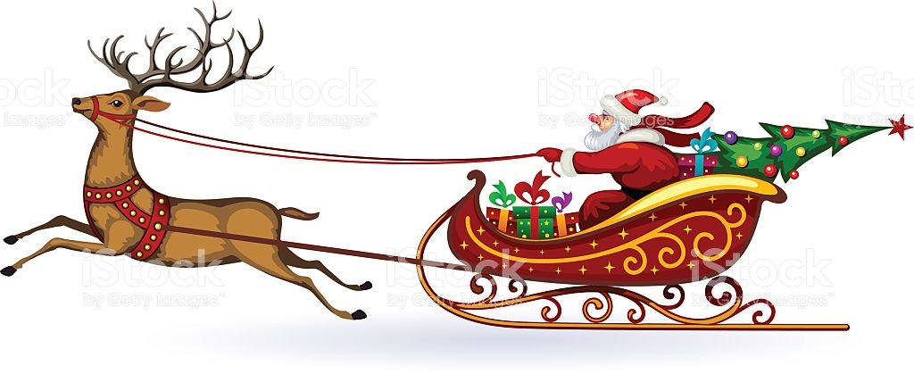 Santa Claus And Reindeer Clipart at GetDrawings.com.