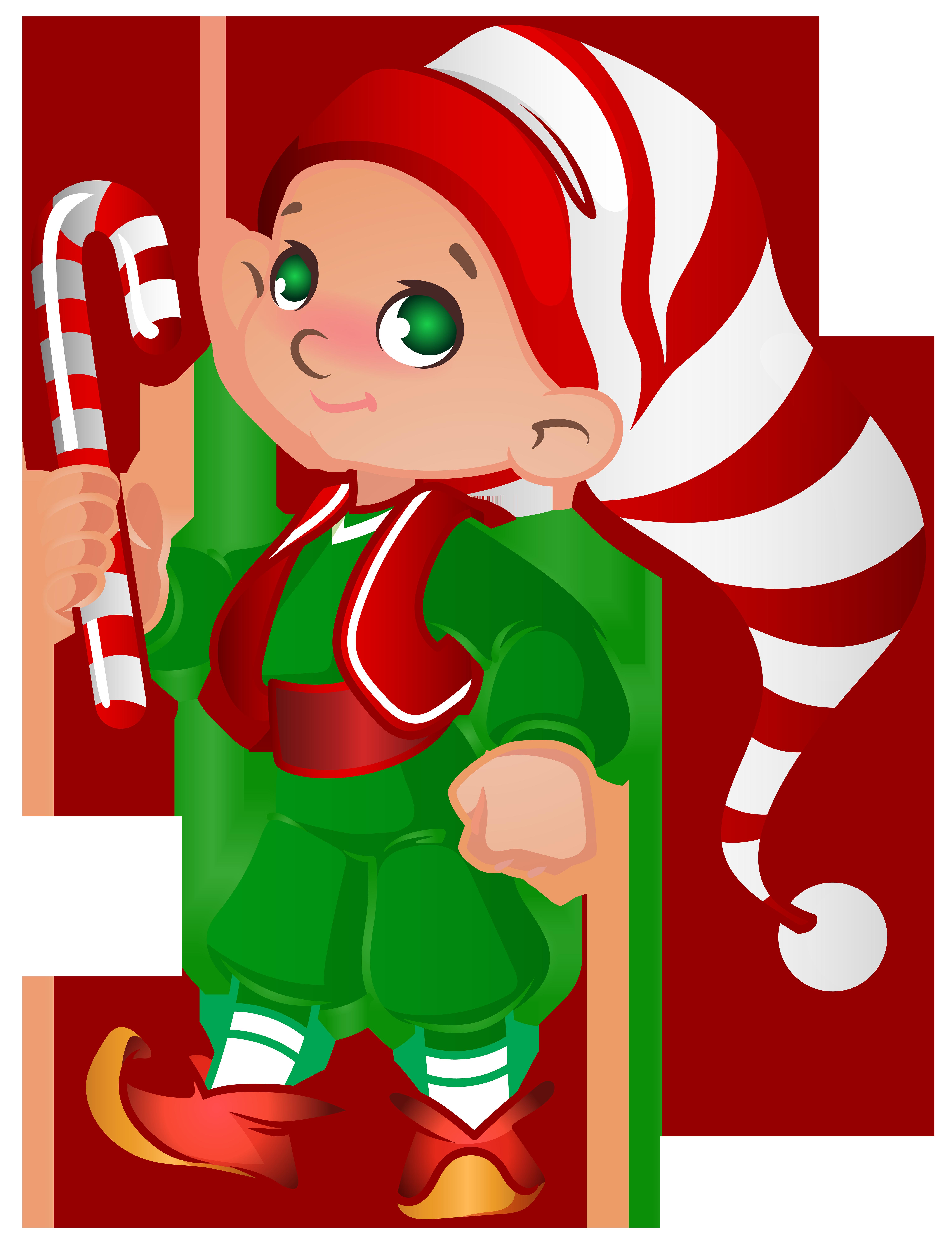 Santa\'s Elves Clipart.