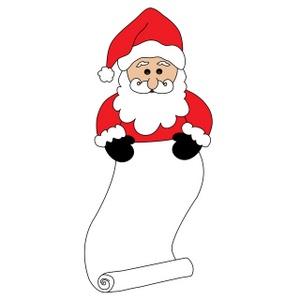 Santa List Clipart.