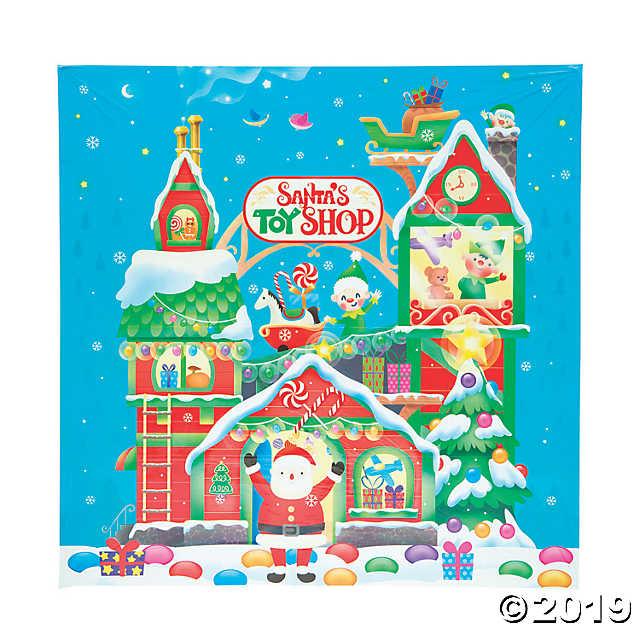 Santa Toy Shop Backdrop.