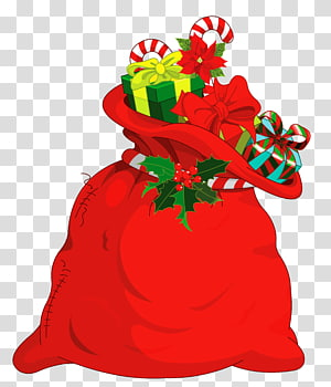 Santa Sack PNG clipart images free download.