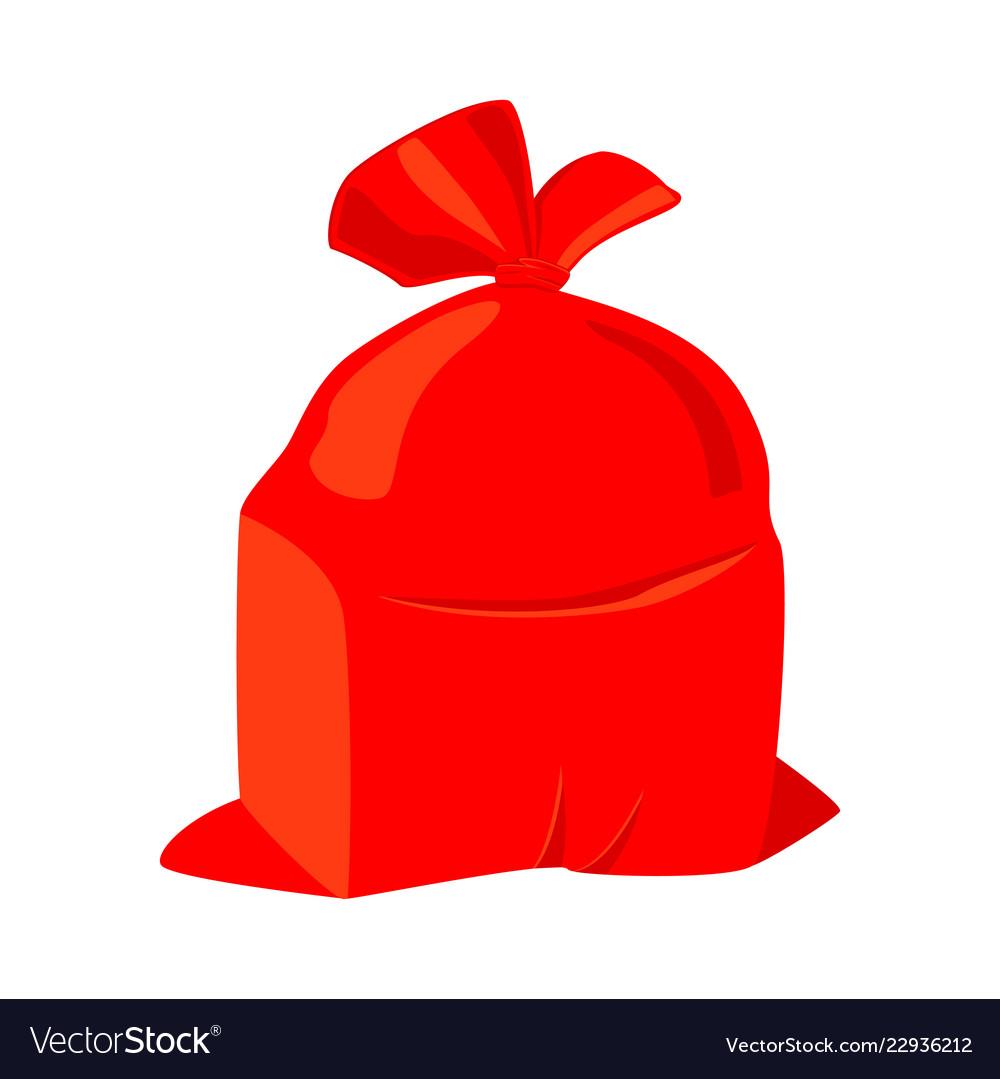 Colorful cartoon santa sack.