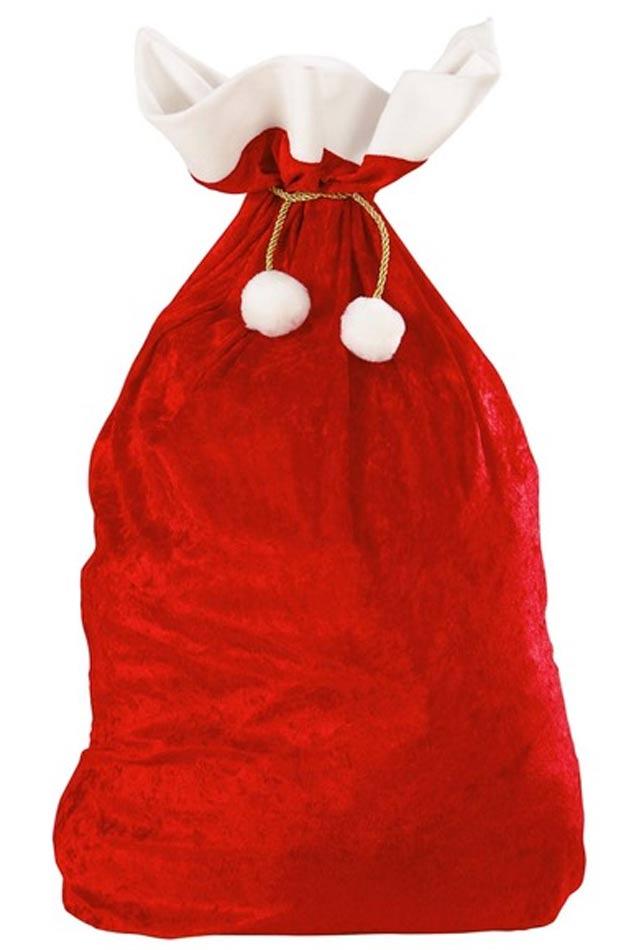 Red Velvet Deluxe Santa Sack by Widmann 1561X.