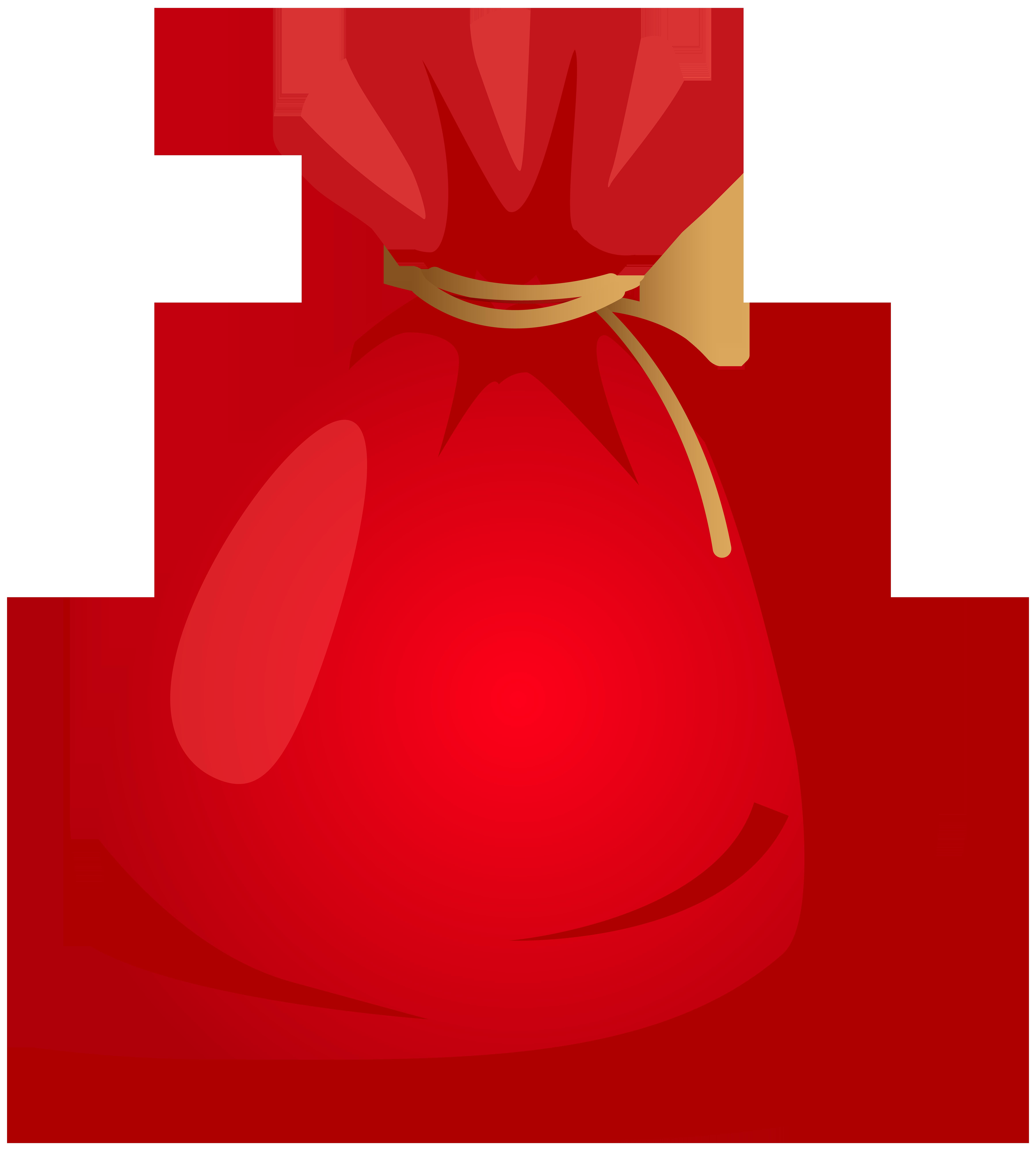 Santa Bag Transparent PNG Clip Art.